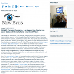 Las Vegas cataract surgeon,cataract surgery,New Eyes Las Vegas,SMART cataract surgery,femtosecond laser,optiwave refractive analysis,ORA,dr. pizio
